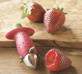 Kitchen Strawberry Huller, Top Leaf Remover Fruit Vegetable Tools Easy To Use & High Duty Material. Hull Strawberries in a fraction of the time with this handy tool.