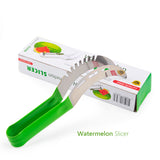 Watermelon Slicer & Server, Perfect Stainless Steel Fruit Cutter and Corer,  Easily Slices Cantaloupe  To Scoop. We've added a safety handle to avoid those little cuts on your fingers.
