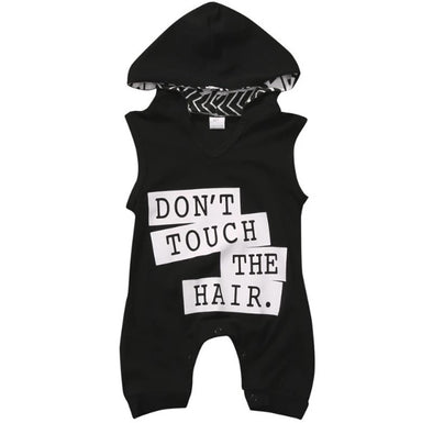 """Don't Touch The Hair"" Hooded Jumpsuit"
