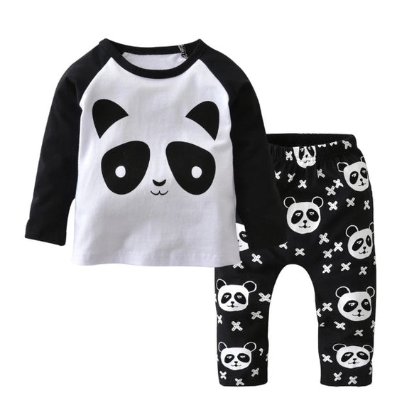 Panda Long Sleeve T-shirt & Leggings