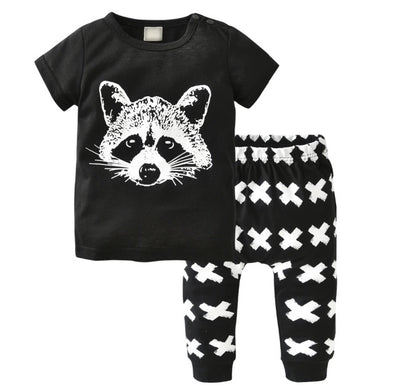 Racoon Short Sleeve T-shirt & Leggings