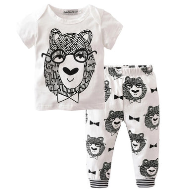 Teddy Bear Short Sleeve T-shirt & Leggings