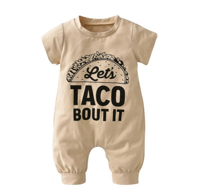 """Let's Taco Bout It"" Short Sleeve Jumpsuit"