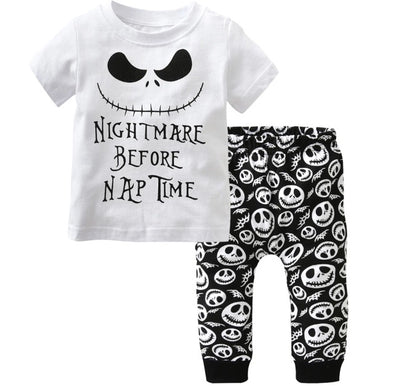 """Nightmare Before Nap Time"" Short Sleeve T-shirt & Leggings"