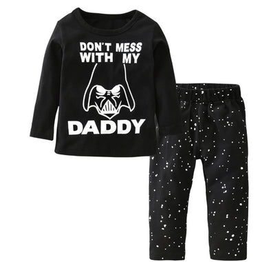 """Don't Mess With My Daddy"" Long Sleeve T-shirt & Leggings"