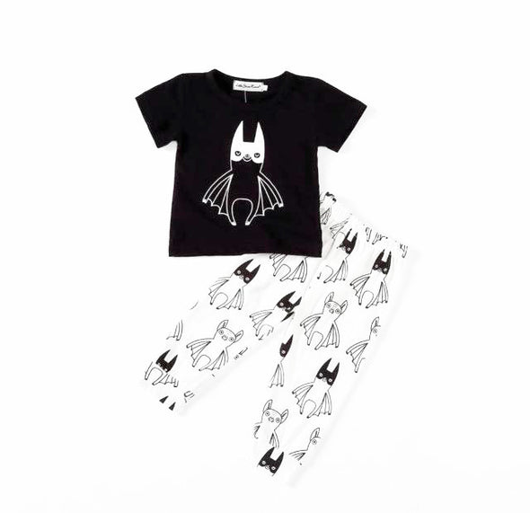 Bat Wing Short Sleeve T-shirt & Leggings