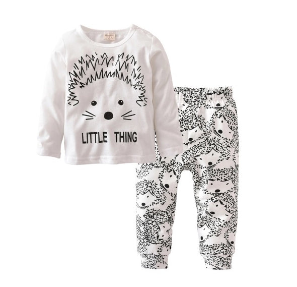 """Little Thing"" Hedgehog Long Sleeve T-shirt & Leggings"