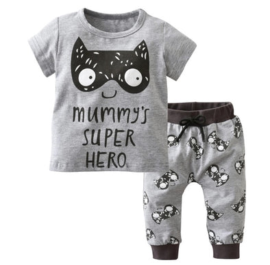 """Mummy's Super Hero"" Short Sleeve T-shirt & Leggings"