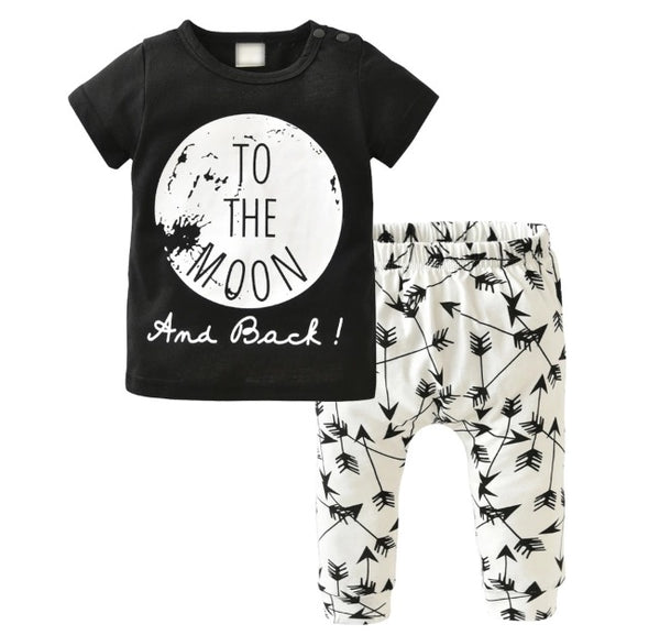 """To The Moon"" Short Sleeve T-shirt & Leggings"