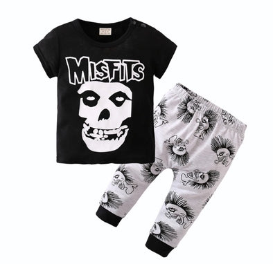 """Little Misfit"" Short Sleeve T-shirt & Leggings"
