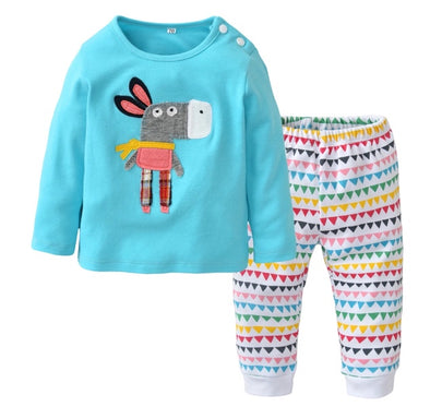 Patchwork Donkey Long Sleeve T-shirt & Leggings