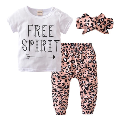 """Free Spirit"" Short Sleeve 3 Piece Outfit"