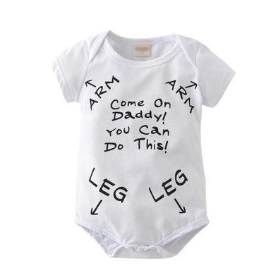 """Come On Daddy"" Short Sleeve Onesie"