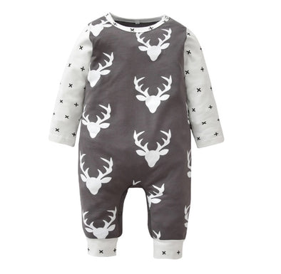 Gray Deer Crosses Jumpsuit