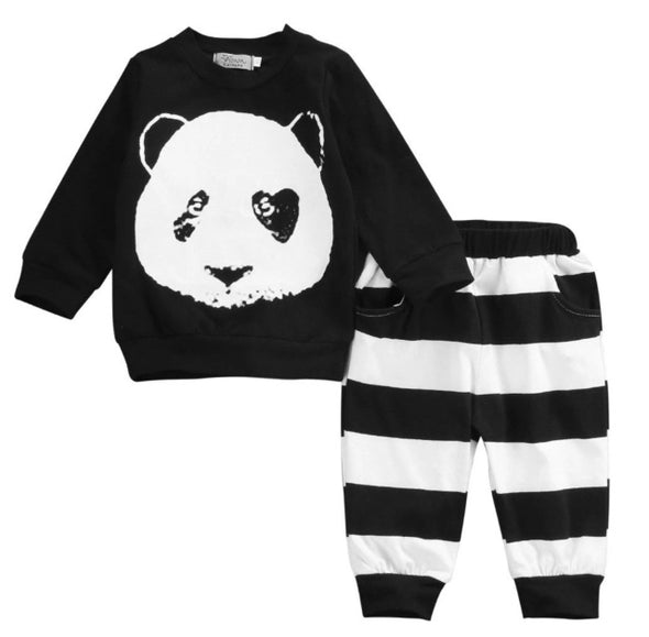 Panda Long Sleeve Sweatshirt & Leggings