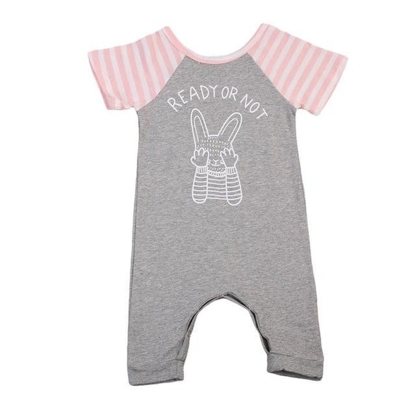 Peak-A-Boo Bunny Short Sleeve Jumpsuit