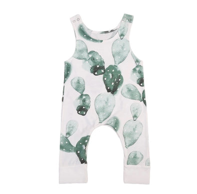 Green Leaf Sleeveless Jumpsuit