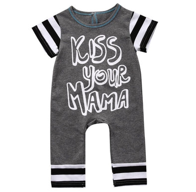 """Kiss Your Mama"" Short Sleeve Jumpsuit"