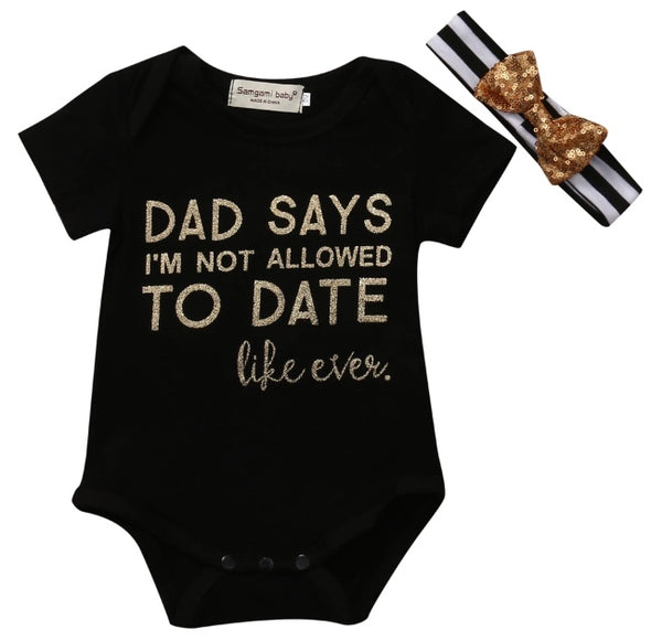 """Dad Says"" Short Sleeve Onesie Set"