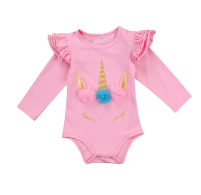 Unicorn Pink Long Sleeve Onesie