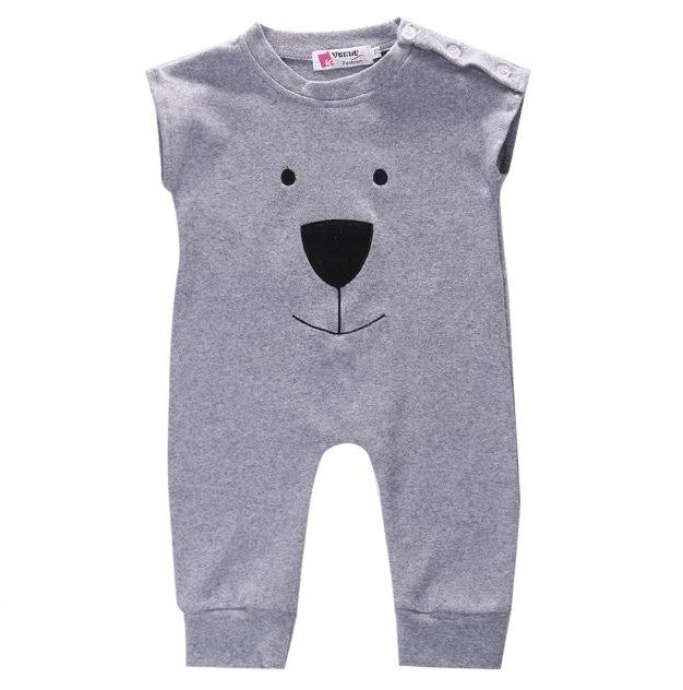 f63db035c93a Gray Bear Short Sleeve Jumpsuit – Wisemom Baby Boutique