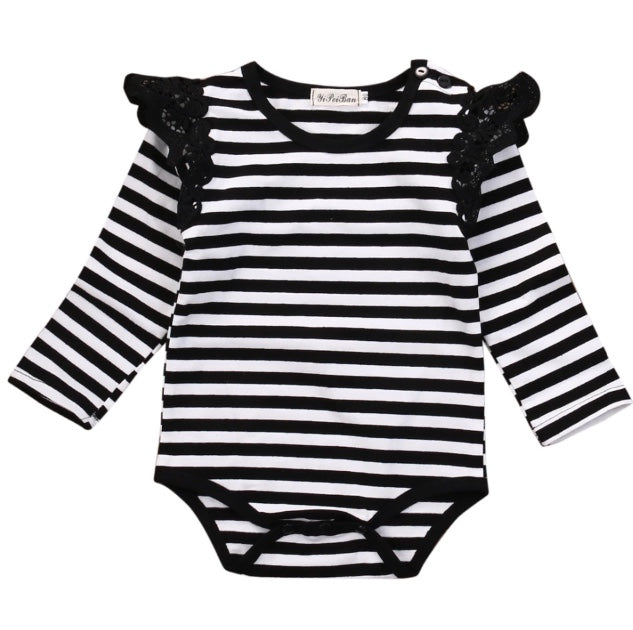 a8a6452c55c4 Black   White Striped Long Sleeve Onesie – Wisemom Baby Boutique