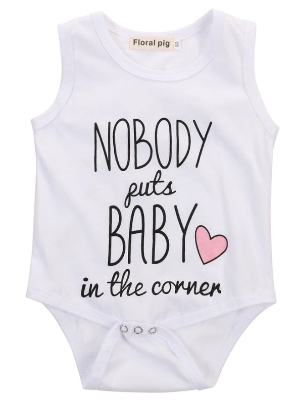 """Nobody Puts Baby In The Corner"" Sleeveless Onesie"
