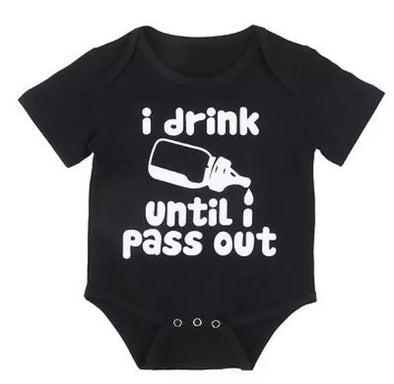 """Pass Out"" Short Sleeve Onesie"