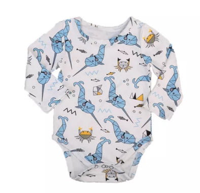 Narwhal Long Sleeve Onesie