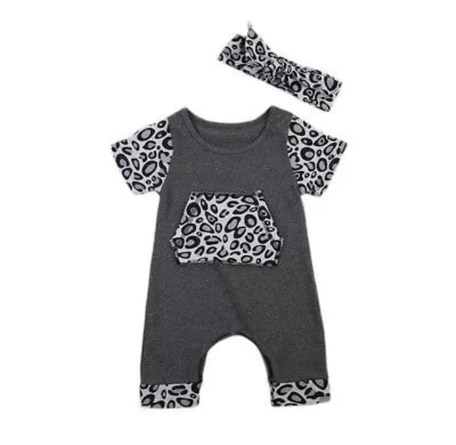 4177ad252ee6 Gray Leopard Short Sleeve Jumpsuit – Wisemom Baby Boutique