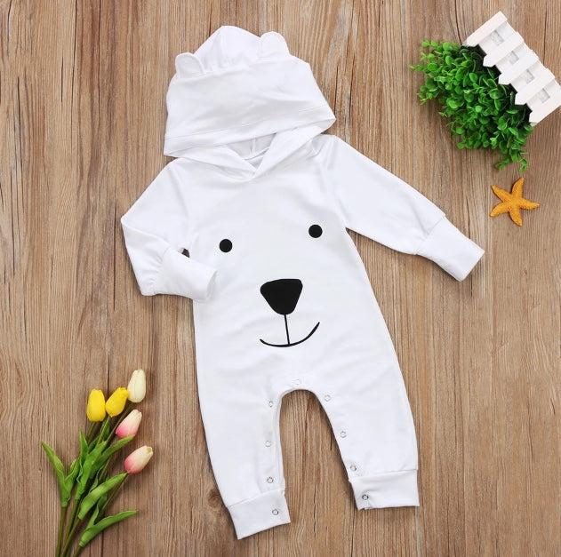 ba792d9c1ce6 White Bear Hooded Jumpsuit – Wisemom Baby Boutique