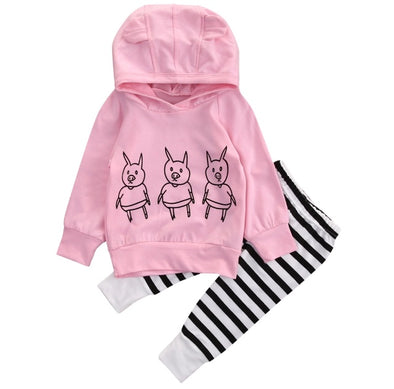 Pink Piggy Hoodie and Leggings