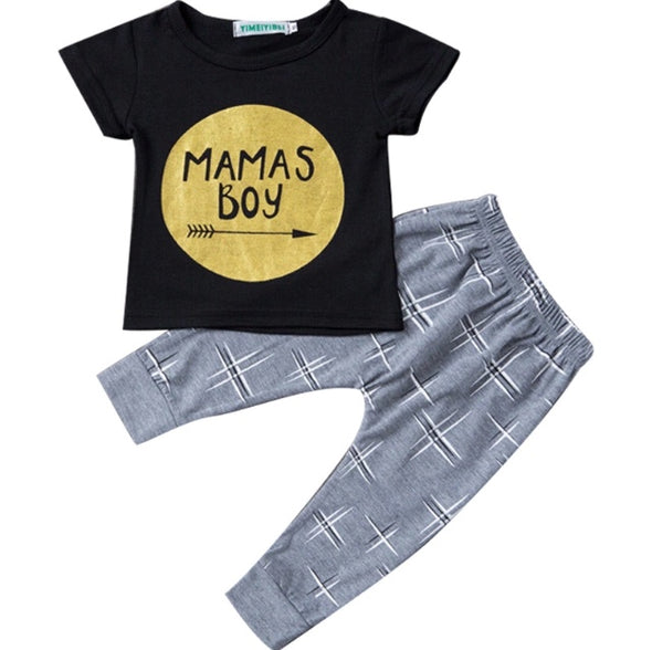 """Mama's Boy"" Short Sleeve T-shirt & Leggings"