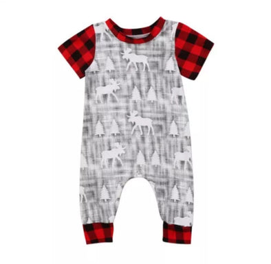 Moose Short Sleeve Jumpsuit