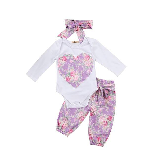 7e68ac980147 Floral Heart Long Sleeve 3 Piece Outfit – Wisemom Baby Boutique