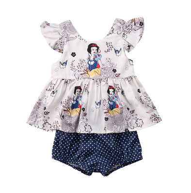 Snow White Short Sleeve Romper