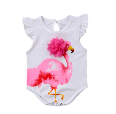 Pink Flamingo Sleeveless Onesie