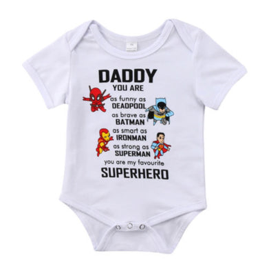 Superhero Short Sleeve Onesie