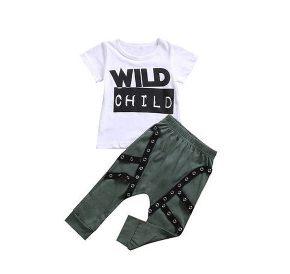 Wild Child Short Sleeve T-shirt & Leggings