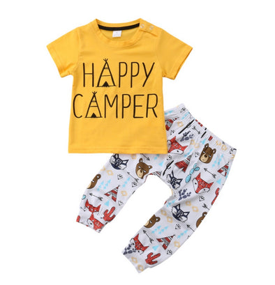 Happy Camper Short Sleeve T-shirt & Leggings