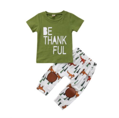 Be Thankful Short Sleeve T-shirt & Leggings