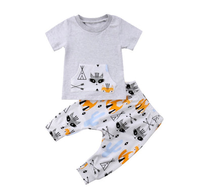 Fox Short Sleeve T-shirt & Leggings