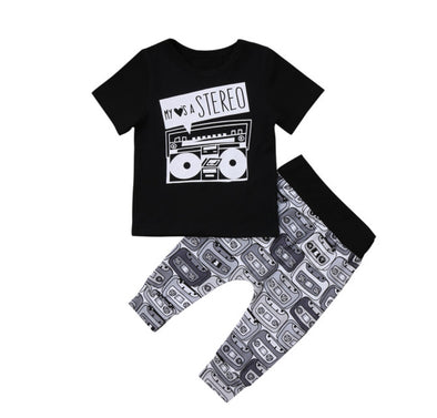 Stereo Short Sleeve T-shirt & Leggings