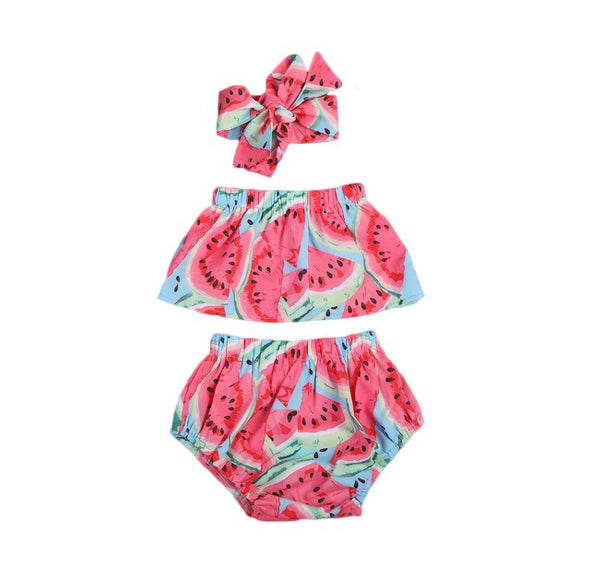 Watermelon Sleeveless Shorts Set