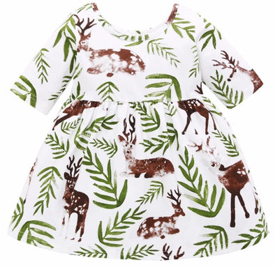 Green Deer Dress