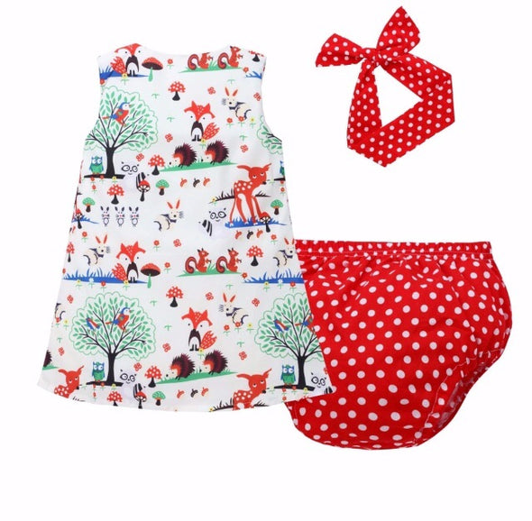 Woodlands Polka Dot Sleeveless Shorts Set