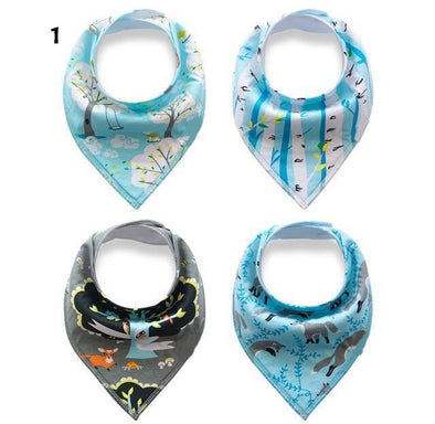 Bandana Drool Bib - Set of 4