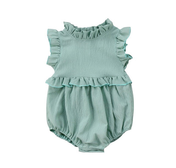 Chiffon Sleeveless Romper (3 colors)