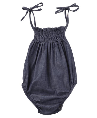 Dark Denim Sleeveless Romper