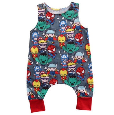 Superhero Sleeveless Jumpsuit